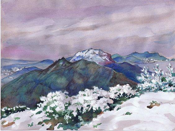 monte Roldán  (acuarela sobre papel, 2014)