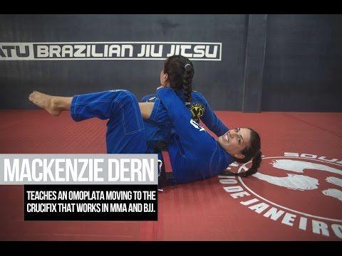 How To Do The Mackenzie Dern S Omoplata To The Crucifix Choke Chokoplata Martial Arts Sparring Martial Arts Martial Arts Workout