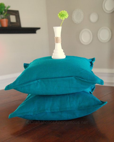 Pillow cover tutorial