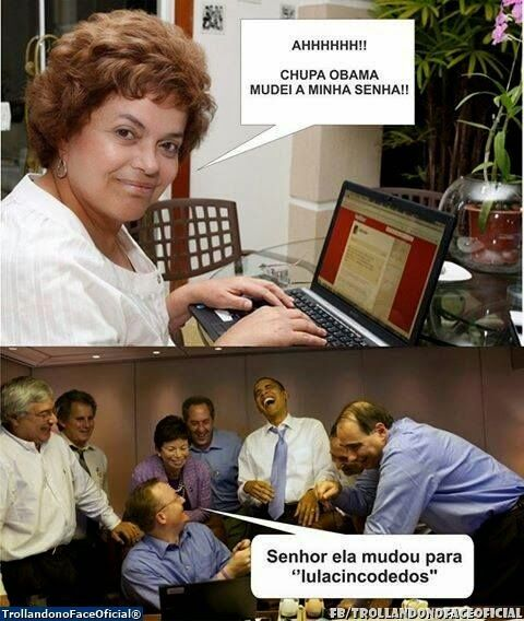 Trollando no Face Oficial: CHUPA OBAMA