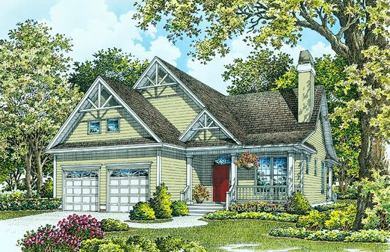 House Plan The Aurora By Donald A Gardner Architects Dream House Plans House Exterior House Plans