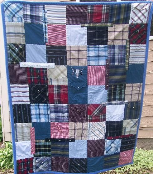 QuiltKeepsake.com - Memorial Quilt from Cowboy Shirts with pearl ... : quilt buttons - Adamdwight.com