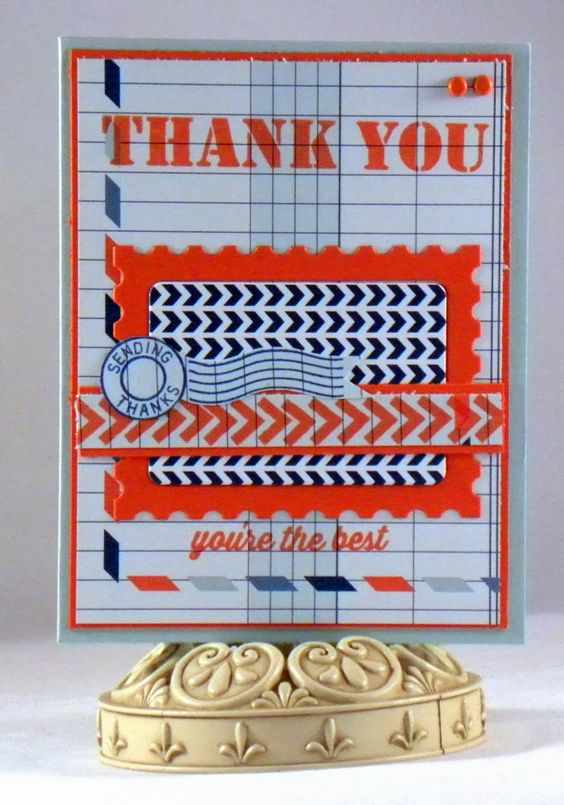 Loves Rubberstamps Blog: Sending Thanks by Design Team Member Holly Fores using MFT
