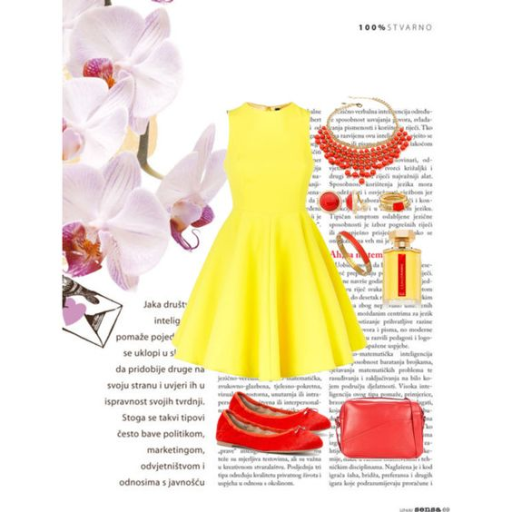 Yellow ❤️ by amnaaurangzeb on Polyvore featuring polyvore, fashion, style, AQ/AQ, Sam Edelman, Le Coq Sportif, Amrita Singh, Monet, Matterial Fix, Vince Camuto and L'Artisan Parfumeur