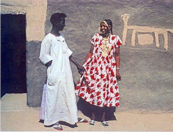 """moieldisa: """" Young Sudanese couple in the 70's (Kerma). """""""