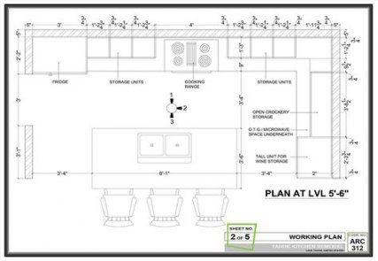Super Kitchen Design Layout Floor Plans Galley 37 Ideas Kitchen Island Dimensions Outdoor Kitchen Plans Kitchen Floor Plans