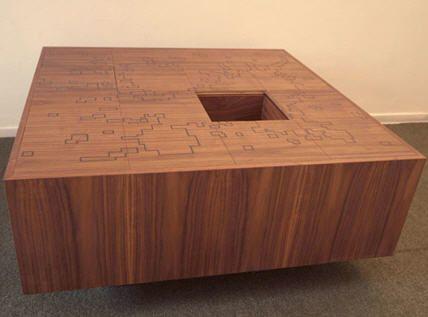 Secret Compartment Puzzle Table