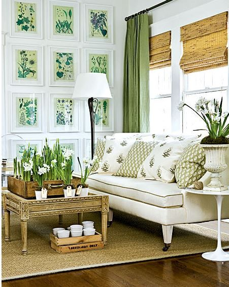 Room decorating ideas - sneak in some green:: WorthingCourtBlog.com