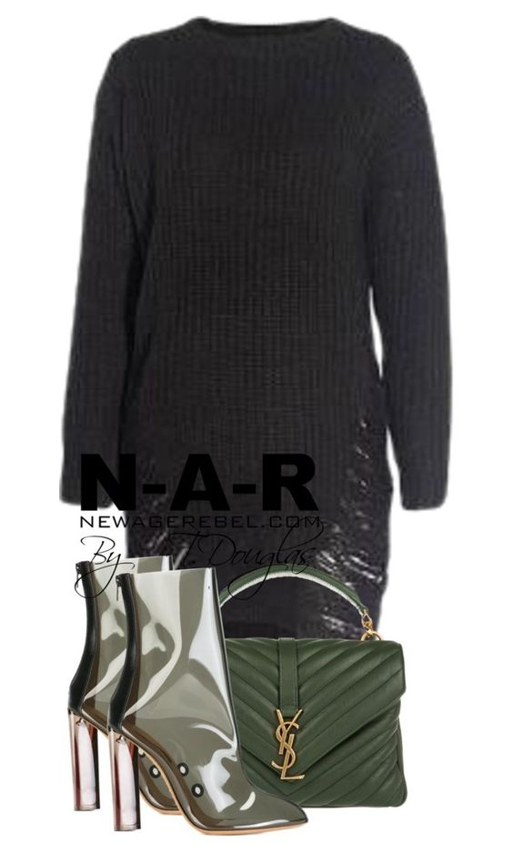 """Untitled #864"" by newagerebel ❤ liked on Polyvore featuring Yves Saint Laurent and adidas Originals"