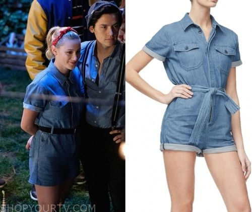 Riverdale Season 4 Episode 1 Betty S Blue Chambray Romper Shop Your Tv In 2020 Betty Cooper Outfits Chambray Romper Riverdale Fashion