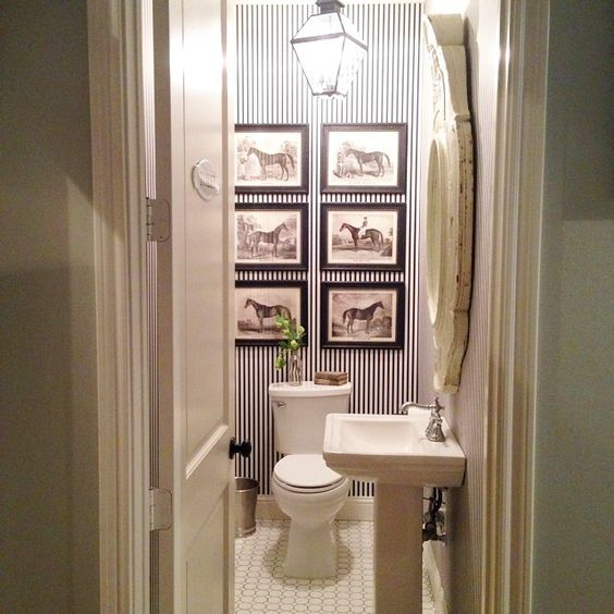 Chip and joanna gaines powder room farmhouse love for Joanna gaines bathroom designs
