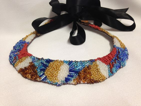 Stunning Embroidered Collar made in Brisbane, Australia | The Craft Gallery