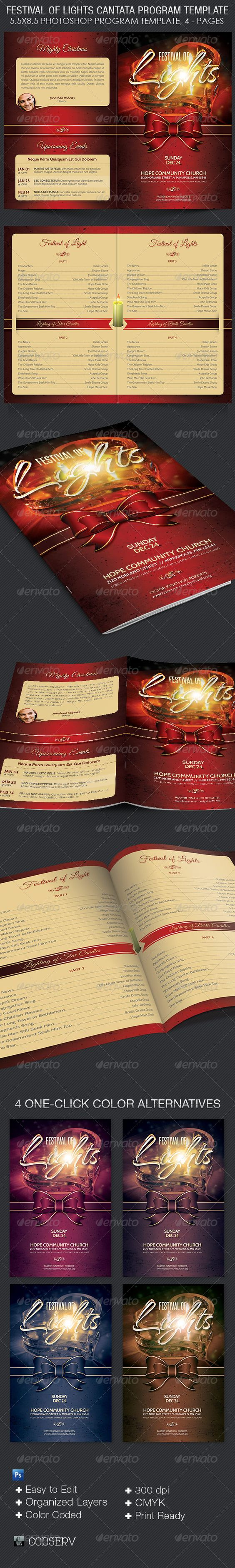festival of lights christmas program template program template festival of lights christmas program template informational brochures
