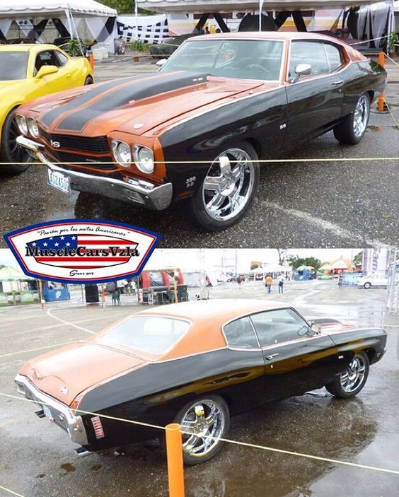 Vevey Burnt Tones Only: 70 Chevelle Burnt Orange And Black Two Tone.