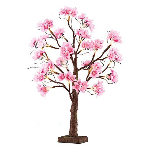 Lighted Pink Cherry Blossom Tree Branches Indoor Tabletop Https Www Amazon Com Dp B Artificial Cherry Blossom Tree Cherry Blossom Light Tree Blossom Trees