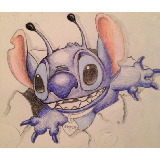 disney how to draw stitch