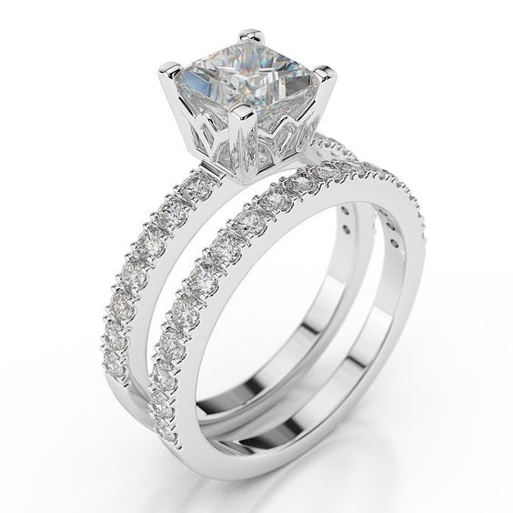 1 Carat Diamond Wedding Ring Sets