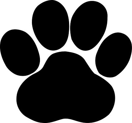 tiger paw template - paw print svg file royalty free for vinyl cutters