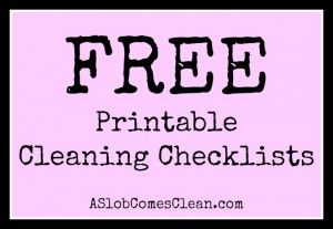 Free Printable Cleaning Checklists!!!!