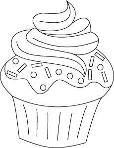 Cupcakes Cupcake Zeichnung Vorlagen Zum Ausmalen