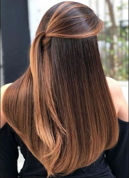 Most Attractive Hair Color For Fall Straight Brunette Hair Balayage Hair Long Straight Hair