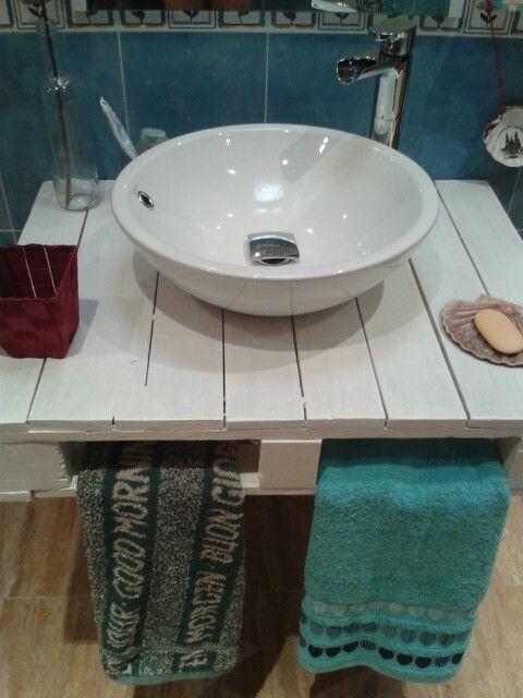 Mueble de lavabo con palets b ideas pinterest - Lavamanos con mueble ...