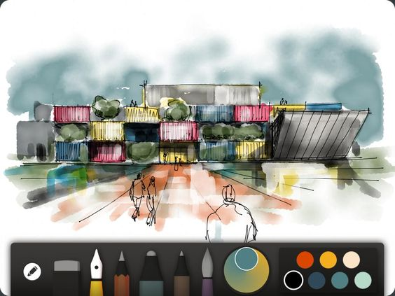 Paper by FiftyThree app - an amazing sketchbook app for the artist in your life. So beautiful!