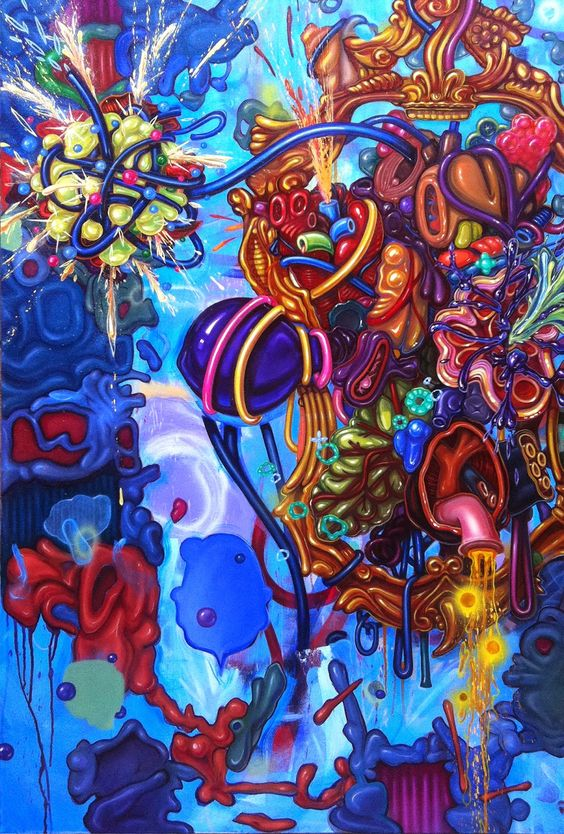 "©Bill Dambrova You're so Vein  38""x56"" oil on canvas  Collection of Ben Bethel"
