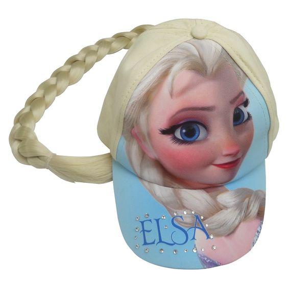 Disney� Frozen Girls' Elsa Braid Baseball Hat - Blue/White