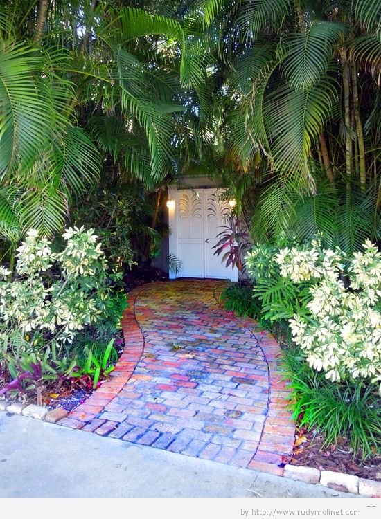 Key West Themed Backyard :  keys paths style yards key west style curb appeal creative street