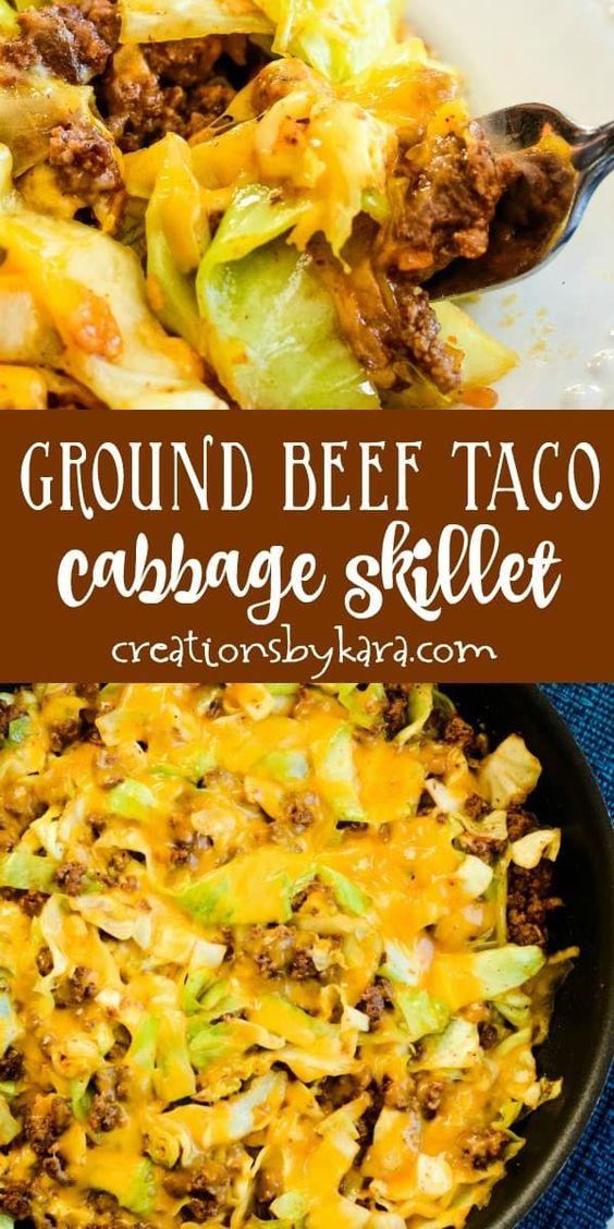 Ground Beef Taco Cabbage Skillet