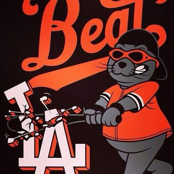 San Francisco Giants Lou Seal Cartoon | Lou Seal | San Francisco Giants | Pinterest