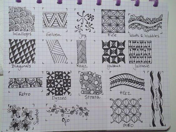 TANGLE PATTERNS PAGE 11 OF 19- #doodles #zendoodle # doodle-----Tekenpraktijk De Innerlijke Wereld: Tangle-patronen