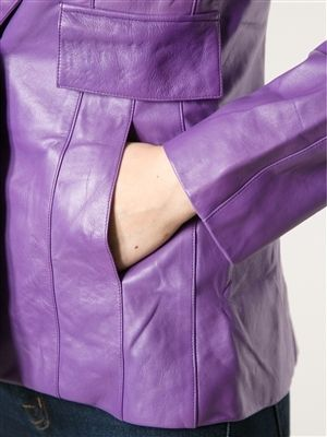 Chanel Purple Lamb Skin Jacket | From a collection of rare vintage jackets at http://www.1stdibs.com/fashion/clothing/jackets/