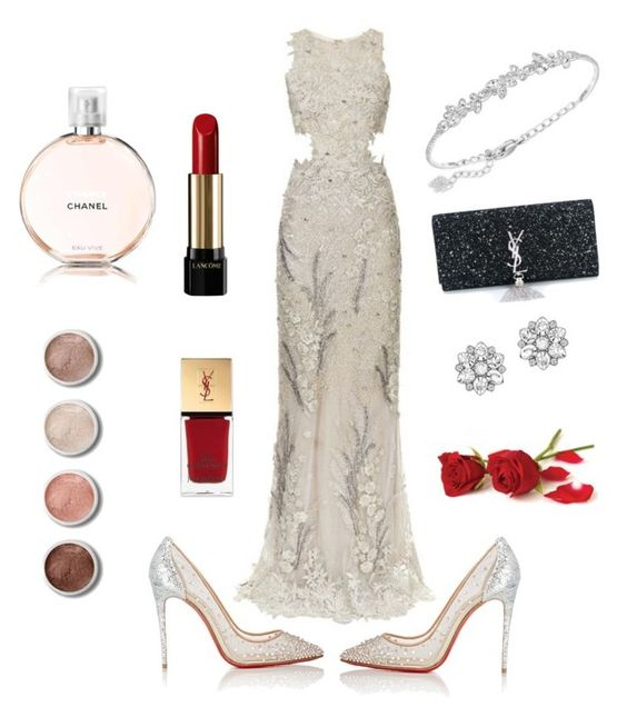 """""""Prom"""" by fabiana-contino ❤ liked on Polyvore featuring Patricia Bonaldi, Christian Louboutin, Lancôme, Terre Mère, Yves Saint Laurent, Chanel and Swarovski"""