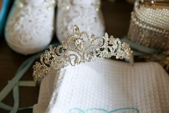 Sofort lieferbar  Hochzeit Tiara / Sweet 16 von vintage4everbeauty