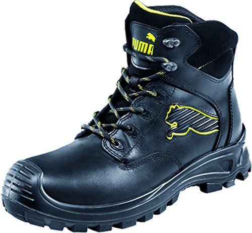Puma Safety Shoes Borneo Black Mid S3 HRO SRC, Puma 630411-202 Unisex-Erwachsene Sicherheitsschuhe, Schwarz (schwarz/gelb 202), EU 41 - http://on-line-kaufen.de/puma/41-eu-puma-safety-sicherheitsschuhe-s3-scuff-caps