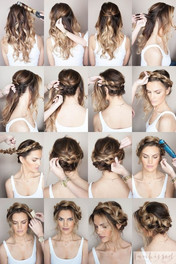 Crown Braid/Halo Braid Braided Hair Tutorial // SKMU // Blog Tutorial // Hair Tutorial // Hair and Make Up Blog // Hair Inspiration: