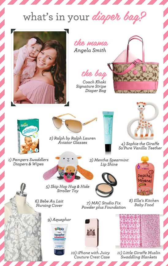 What's In Your Diaper Bag?: Angela Smith, owner of Angela Mae Photography