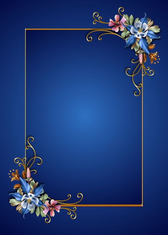 blue floral on blue: