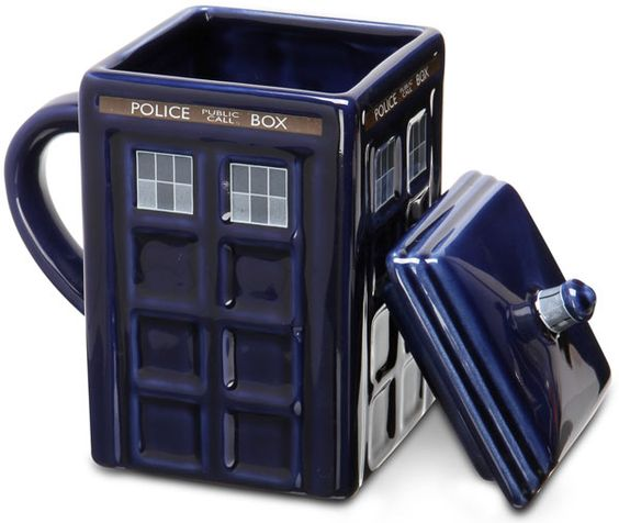 ThinkGeek :: TARDIS Mug.  my husband just ordered me one!  so totally excited!