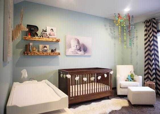 Rustic Modern Nursery for Baby Girl