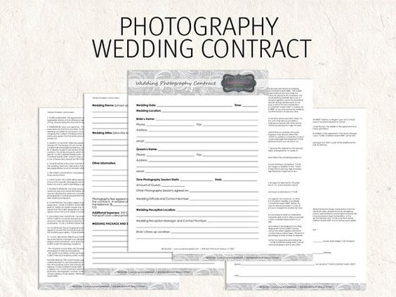 Wedding contract to match other files---You need to have Photoshop - wedding contract