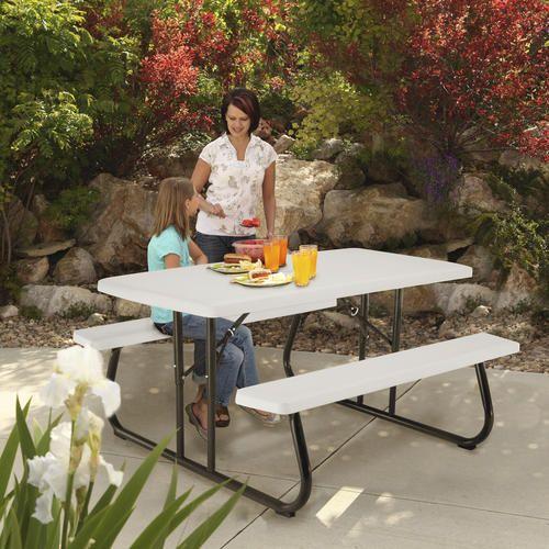 5 Folding Picnic Table At Menards Folding Picnic Table Patio Table Picnic Table