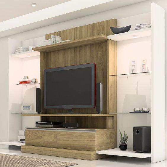 A estante é peça principal para deixar a sala de estar organizada ...