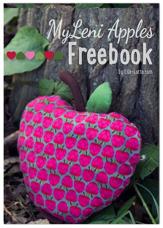 My Leni Apples - Freebook ~ Lila-Lotta Apfelkissen Kissen nähen