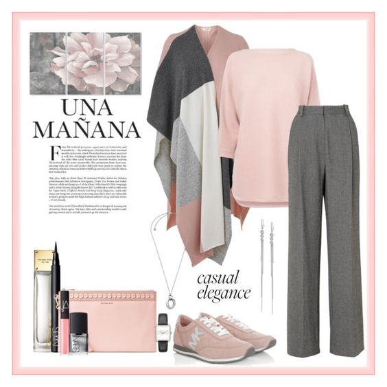 """""""Casual elegance: L.K.Bennett"""" by heather-peace on Polyvore featuring L.K.Bennett, Michael Kors, NARS Cosmetics and Stupell"""