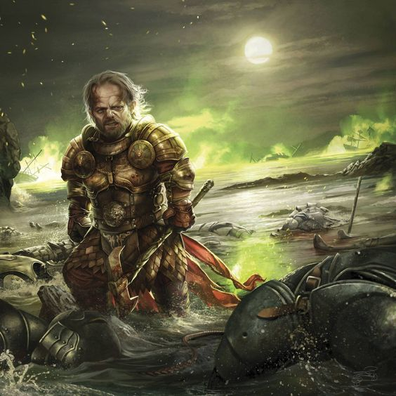 Tyrion Lannister en la Batalla del Aguasnegras, por Magali Villeneuve