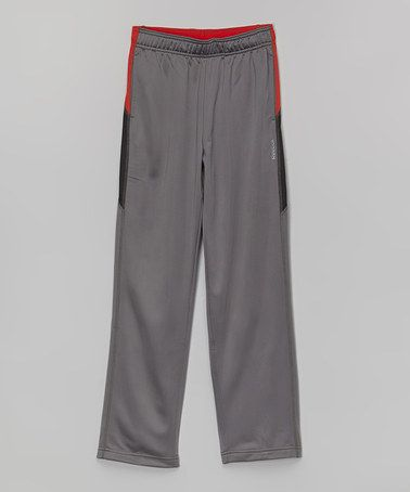Rivet Gray Track Pants - Boys by Reebok #zulily #zulilyfinds