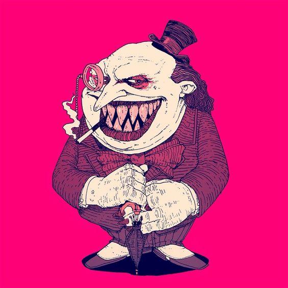Oswald Cobblepot! Ewww... (The Penguin by Matthew Byle for #SketchDailies. October 6, 2014   via Twitter) #fanart #Batman #Penguin